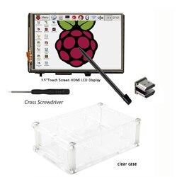 3.5 بوصة HDMI LCD TFT لمس الشاشة مع الاكريليك شفافة حالة ل التوت بي 2 و بي 3 نموذج B