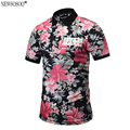 Newsosoo Brand designer Polo Shirt Men 2017 summer fashion full flower printed men's Polo shirt tops male M-3XL PT9