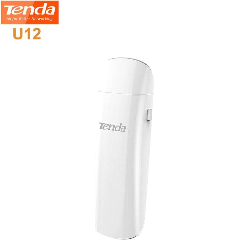 Original TENDA U12 1300 M Wireless USB Adapter 11AC WiFi Dual Band Dual-Band Netzwerk Karte 867 Mbps Utral -schnelle Für Desktop Laptop