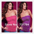 Women's Sexy Chest Wrapped Vest Floral Lace Hollow Out Strapless Tubes Tank Tops Shirts Underwear Singlets Free Drop Shipping