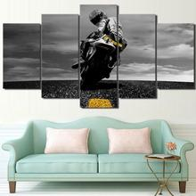 5 Piece Canvas Valentino Rossi Moto Poster HD Printed Wall Art Home Decor Painting Picture