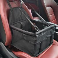 Dog Carrier Breathable Vehicle Pet Carrier Safety Mesh Foldable Puppy Cat Package Stable Pet Car Seat Front Seats