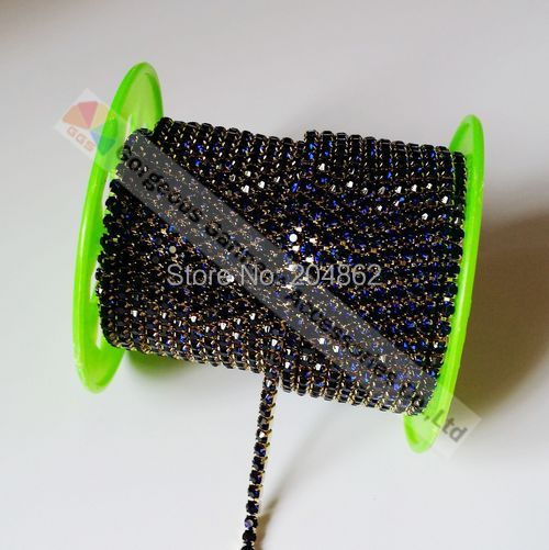 Aliexpress.com   Buy 10yards SS16 Montana Navy blue Close Set crystal  rhinestone cup chain Gold Silver Setting For DIY Browbands Accessories  Making from ... f3f80c614f60