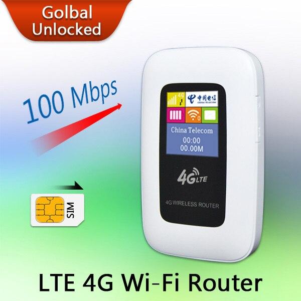 Travel Partner 100M Mobile Hotspot Pocket Portable Wireless Unlock Mini Wi-Fi MiFi LTE WiFi Modem 4G Router with SIM Card Slot