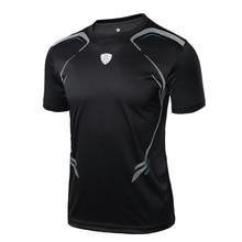 2017 Fashion Brand Mens tshirt Quick Dry Breathable T-shirts men Soccer Jersey Printed Shirt fashion Slim Fit custom t-shirt