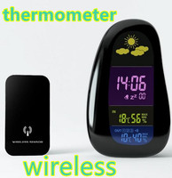 Digital Wireless Weather Station Report Outdoor Indoor Humidity Temperature Thermometer LED Alarm Clock Hygrometer 50