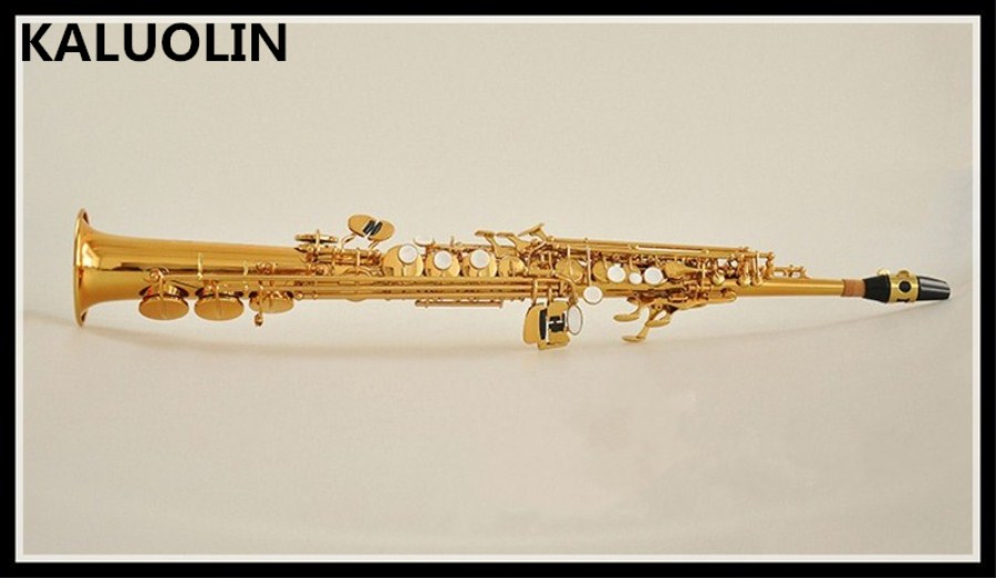 KALUOLIN New Soprano Saxophone B flat playing professionally Soprano Musical Instruments Soprano Sax professional Free shipping tenor saxophone free shipping selmer instrument saxophone wire drawing bronze copper 54 professional b mouthpiece sax saxophone