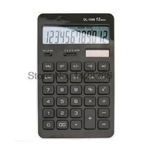 2016 Deli Dual Power Office Commercial Calculator Model 1548 3 Colors Slim Mini Calculator School Office Business Supplies