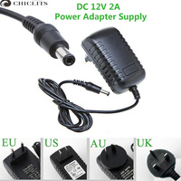 12V 2A Power Adapter Supply For Led Strip EU US UK AU Adapter For AC110 220V