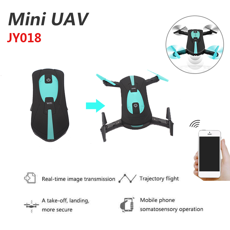 2018 Hot Sale Portable JY018 Foldable Mini Selfie Drone 720P Camera HD RC Quadcopter WiFi FPV Headless Mode 360 Degree Rolling