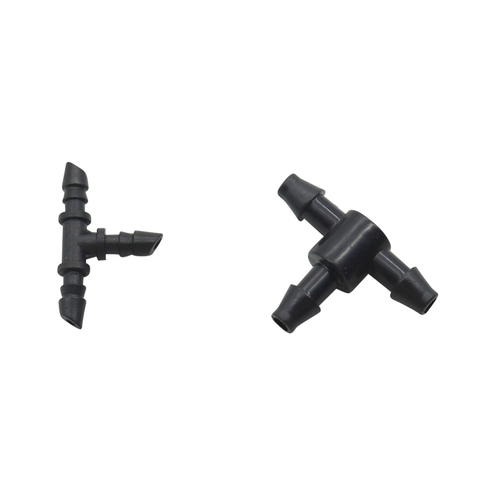 3mm,4mm Hose Tee Barb Connector Irrigation Plumbing Pipe Fittings T-Shape Tube Adapter Hose Joint 3-Way Splitter 20 Pcs