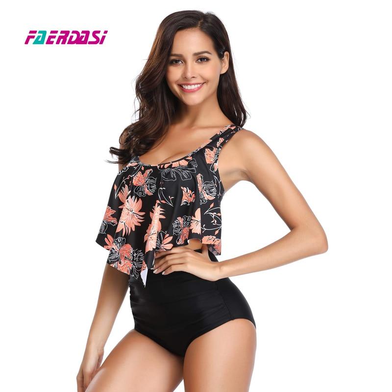 7fc5ffd23df 2019 New Sexy Women Swimwear Bikini Plus Size High Waist Swimsuit Beach  Bathing Suit Push Up Bikini Set Maillot De Bain Femme