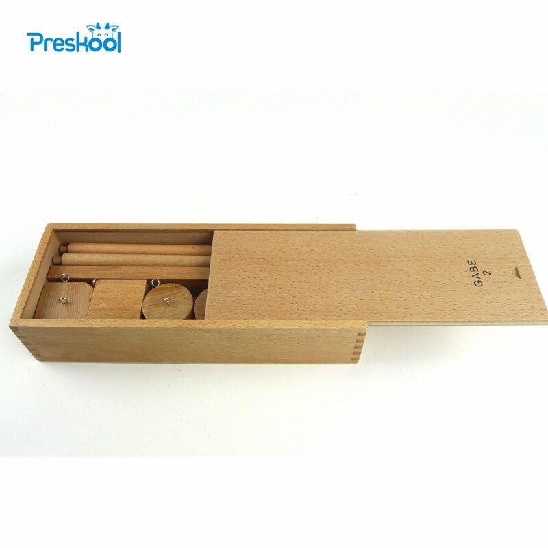 Montessori bébé enfants jouets Froebel bois cordes boules Gabe 2 outil d'enseignement éducatif préscolaire formation Brinquedo Juguets