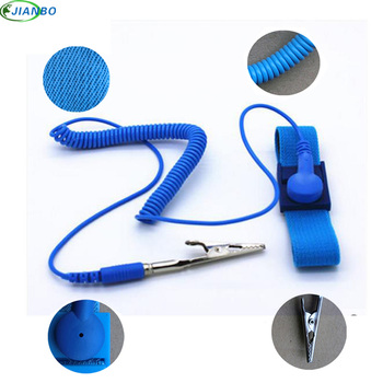 Adjustable Anti Static Bracelet Electrostatic ESD PU Discharge Cable Reusable Wristband Men Women Strap Hand With Grounding Wire the new sl 030b led display esd anti static weight surface resistance electrostatic tester