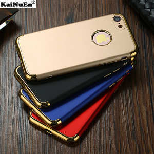 KaiNuEn luxury metal pc coque cover case for apple iphone7 iphone 7 s 7s plus 7plus hard cases 3 accessories combinations covers