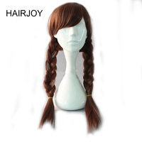 HAIRJOY Long Braided Brown Cosplay Wig 70CM Synthetic Hair Heat Resistant Ponytail