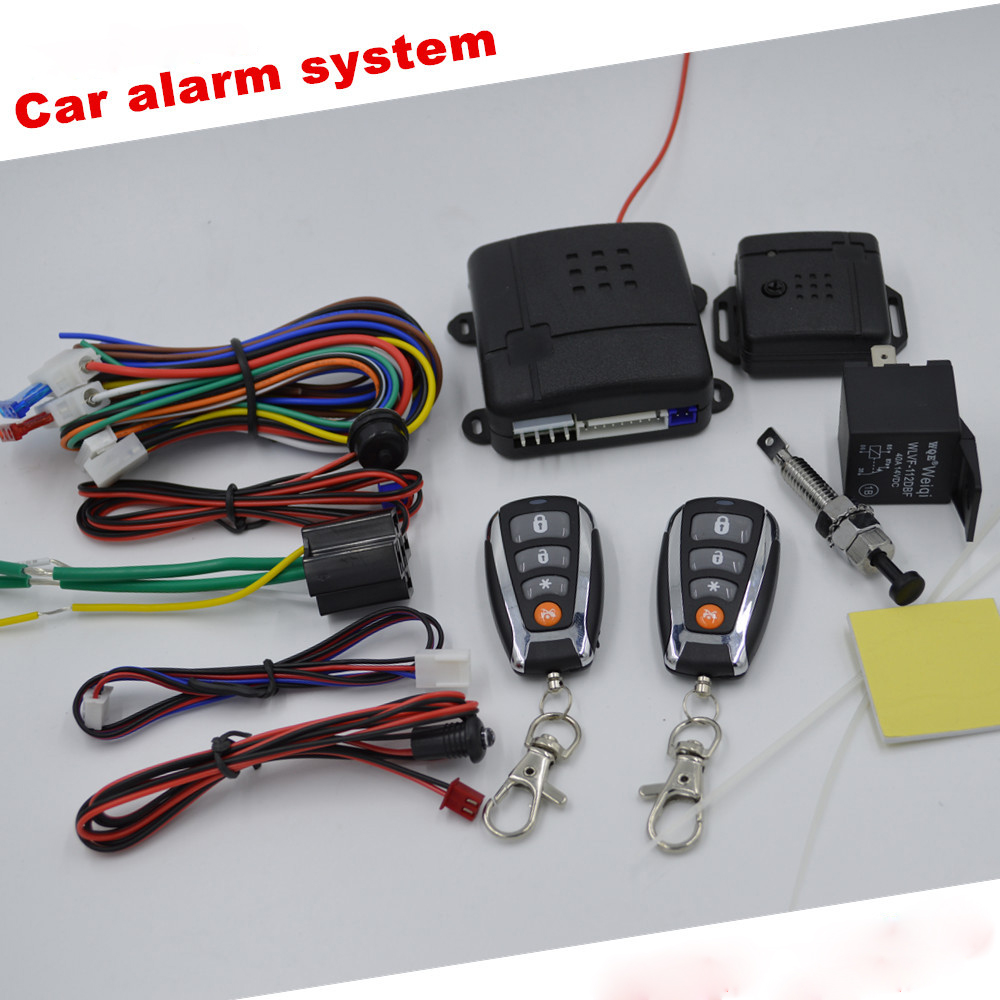Keyless Entry Car Alarm System Push Start/Stop Button Car