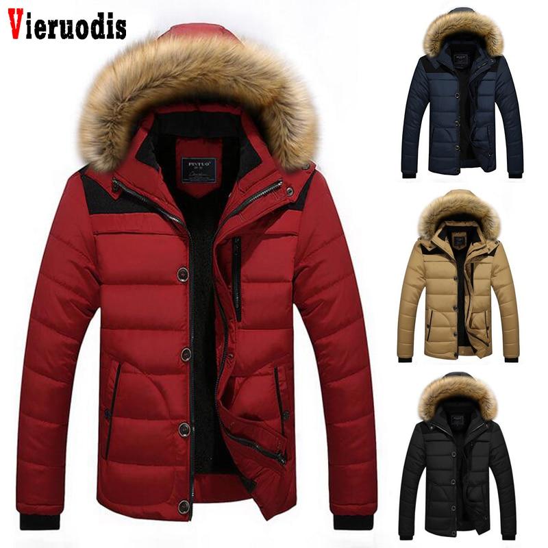 2019 New Arrival Men's Winter 4 Colors Warm Jacket Brand Coat Warm Down Plus Size M-5XL Men Hooded Casual Slim Parka