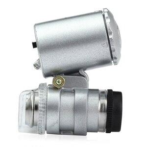 Image 3 - ミニ 60x ハンドヘルド顕微鏡ルーペ通貨検出 led と UV ライト