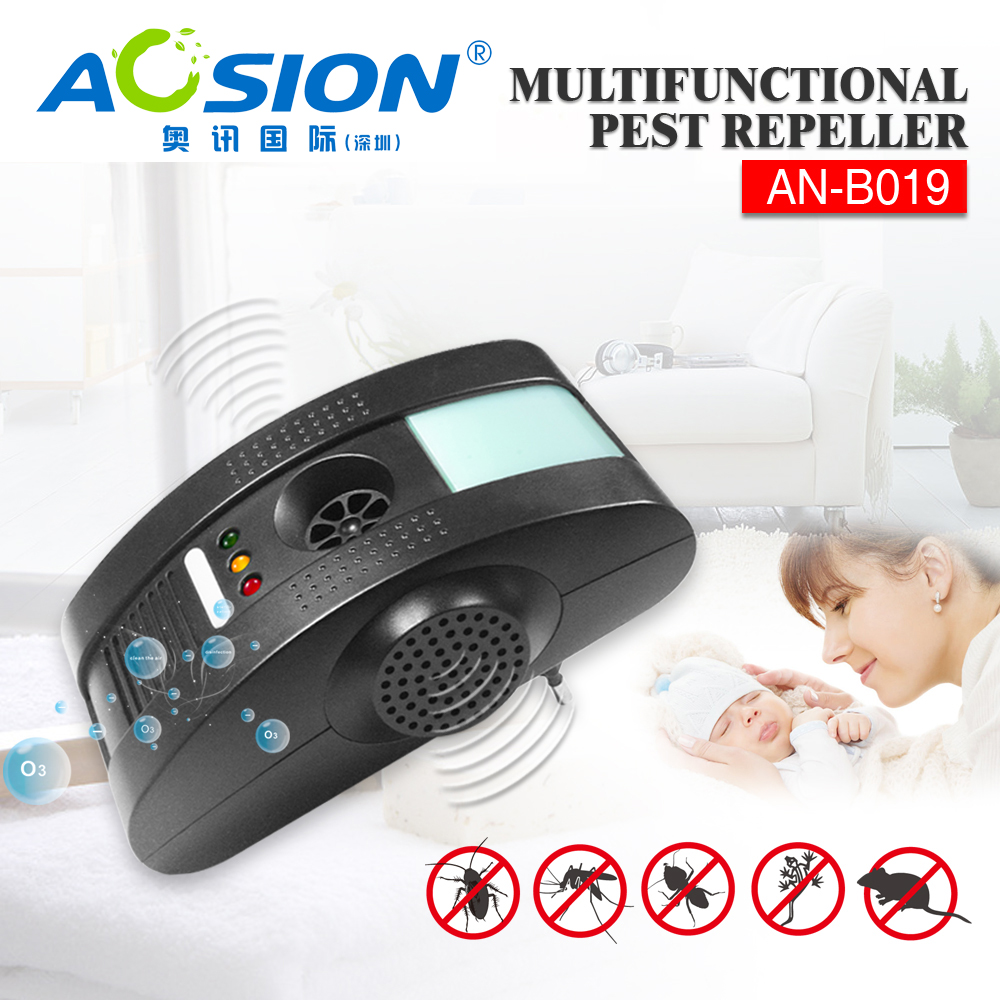 Aosion electronic <font><b>pest</b></font> repeller 4 in 1 ultrasonic mouse mosquito spider cockroach control repellent