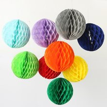 1pc 2'' 4'' 6'' honeycomb ball paper flower lantern ball wedding party kids birthday party xmas decoration baby show supplies(China)