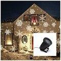 Белый снег лазерный проектор светодиодный светодиодная сценическая лампа цвет Снежинка для Рождество новый вечерние вечеринка свет сад от...