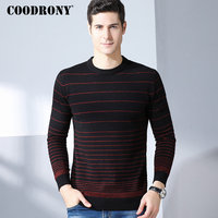 COODRONY Casual O Neck Mens Sweaters 2018 Winter New Arrivals 100% Merino Wool Sweater Men Thick Warm Cashmere Pullover Men 8325