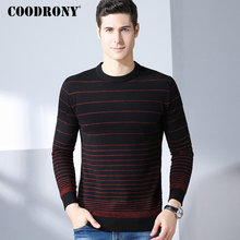 COODRONY Casual O-Neck Mens Sweaters 2018 Winter New Arrivals 100% Merino Wool Sweater Men Thick Warm Cashmere Pullover Men 8325