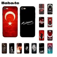 Babaite Flag of Turkey Istanbul Antalya mustafa Kemal Ataturk Phone Case for iPhone 8 7 6 6S Plus 5 5S SE XR X XS MAX Coque(China)