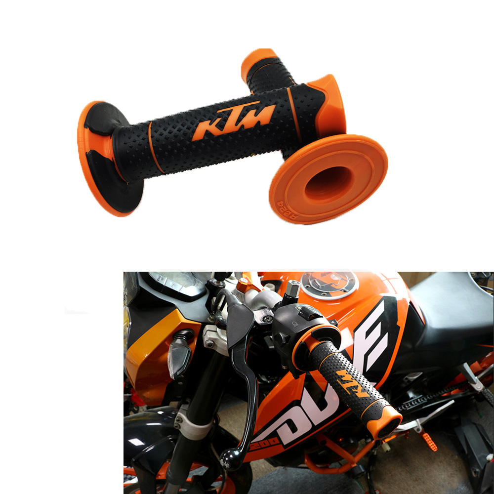 Knight 7/8 22mm Motorcycle Hand Grips Handle Rubber Bar Gel Grip Modified Accessory for Duke 125 200 390 690 990 Motocross stirrup multi gym attachment home grip bar workout rubber handle seated row chinning cable