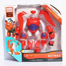 Novo 16cm montar grande herói 6 figura de ação brinquedo homem gordo boneca baymax brinquedos de natal