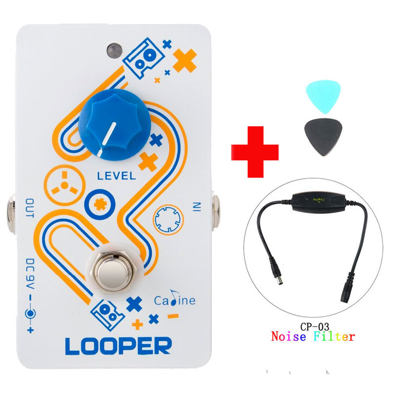 Caline CP-33 Looper Guitar Effect Pedal White Color High Quality Recording And Caline CP-03 Noise Filter