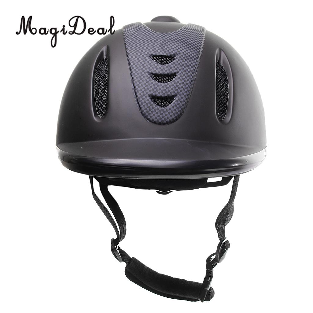MagiDeal Hot Sale Professional Children Equestrian Horse Riding Helmet Black Half Cover Safety Outdoor Riding Sport Equipment men women professional equestrian horse riding helmet breathable durable safety half cover horse rider helmets
