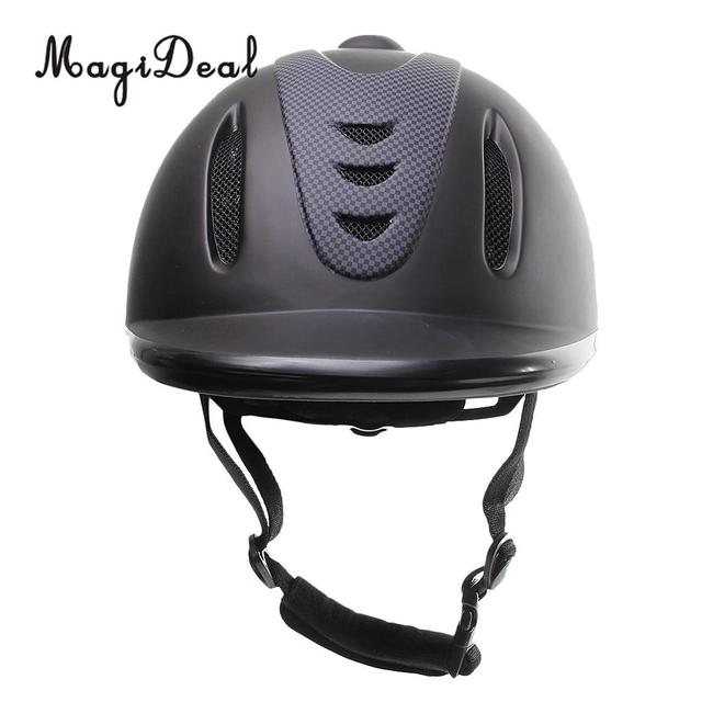 MagiDeal Hot Sale Professional Children Equestrian Horse Riding Helmet Black Half Cover Safety Outdoor Riding Sport Equipment