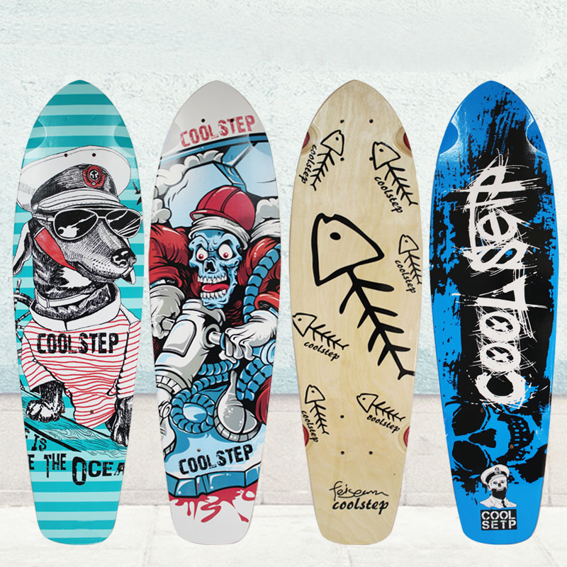 Free Shipping 26inch Skateboard Deck Simple Pattern Made By Canadian Maple Wood Shape Skateboard Deck For Pro