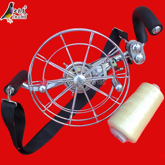 Free Shipping Outdoor Fun Sports 26cm Power Stainless Steel Strap Wheel With 500m 3rd Line /Kite Wheel /Flying tools