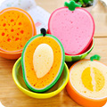 Creative Cute Fruits Shape Orange Mango Cantaloupe Strawberry Car Kitchen Pan Bowl Cup Plate Household Cleaning Brushes Tools EF