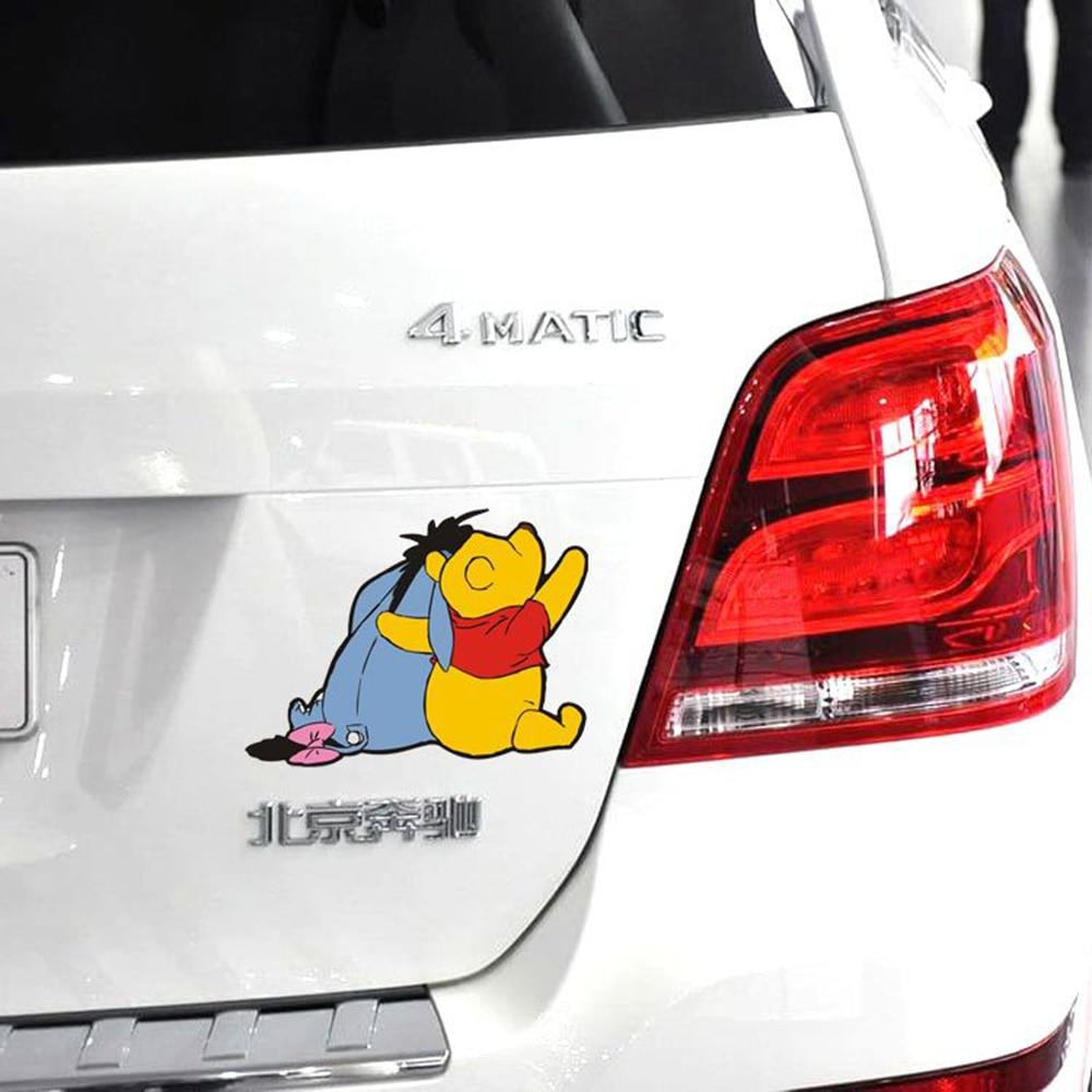 Aliauto winnie the pooh back cute car decoration funny sticker and decal for audi a4 hyundai toyota rav 4 ford focus lada kia