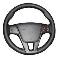 Heatd Car Steering Wheel Cover For Volvo S60 V40 V60 V70 2014 XC60 Car Accessories Breathable