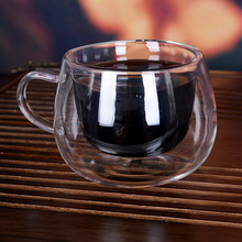 Double transparent coffe cup Creative cups and mugs Breakfast glass with handle tumbler  portable  travel coffee mug цена