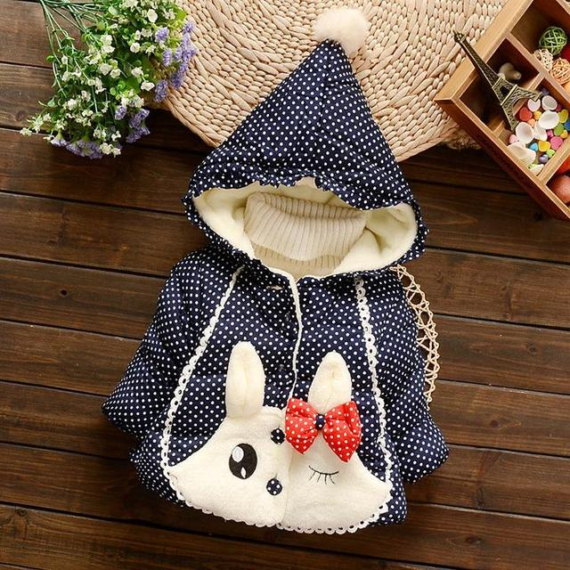 child blue and white porcelain lace winter wadded jacket baby cotton-padded jacket child outerwear