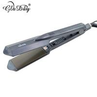 Professional Hair Flat Iron Straightening Iron Nano Titanium 5 Different Temperature Setting Flat Iron Led Display 100 240V