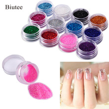 12 Color Nail Acrylic Glitter Powder Decor Nail Art Powder Sparkly Dus