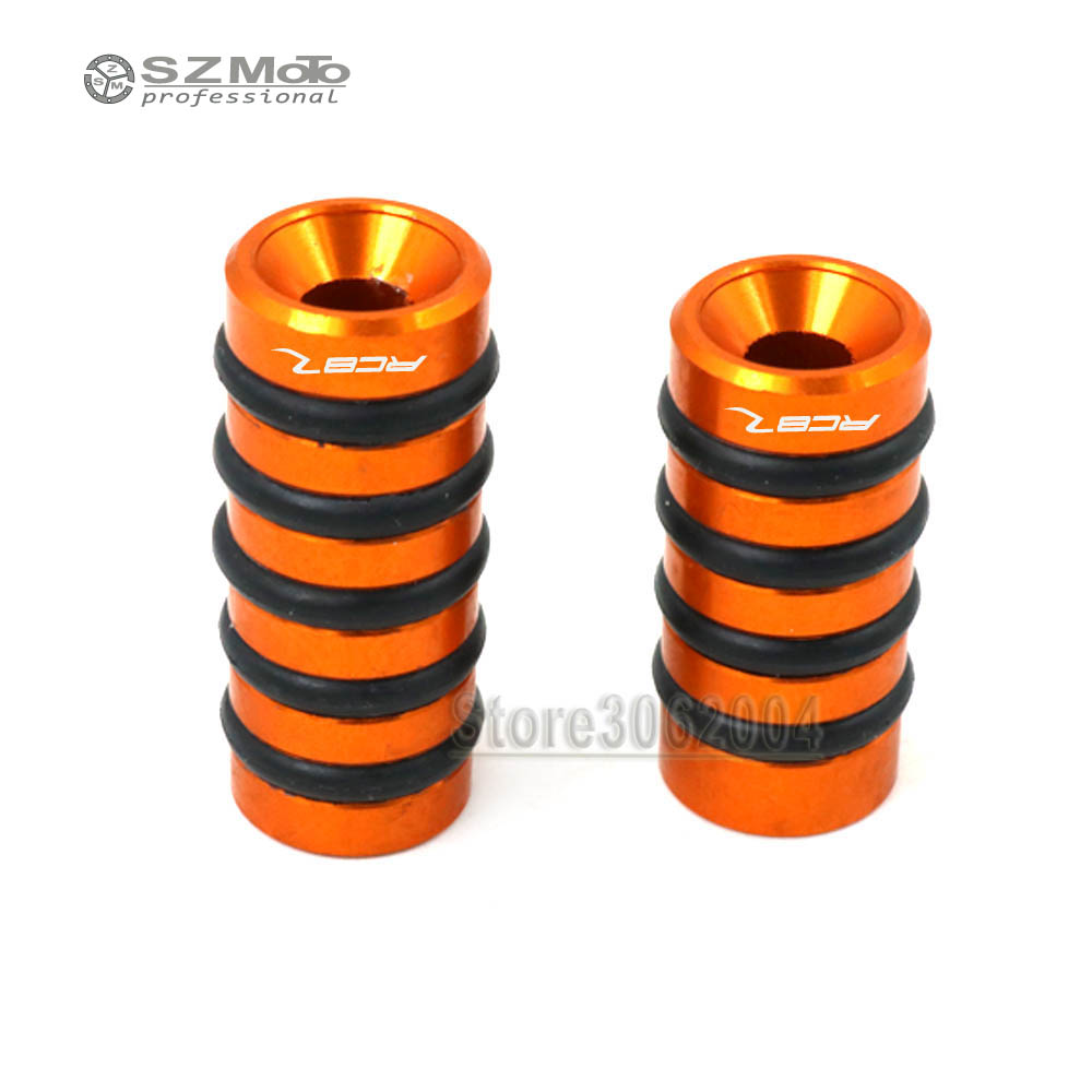 Brake Pedal Gear Lever Toe Peg Step Plate PIN For KTM 1190 RC8R RC8 Motorcycle Accessories CNC Aluminum Orange With Logo
