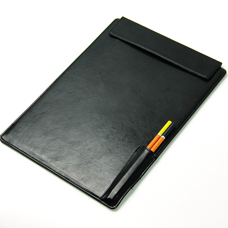 1Pc Magnetic A4 PU Leather Clipboard / Writing Portfolio / Folder / Menu Note Board with Pen Clip for Office Books /Restaurant