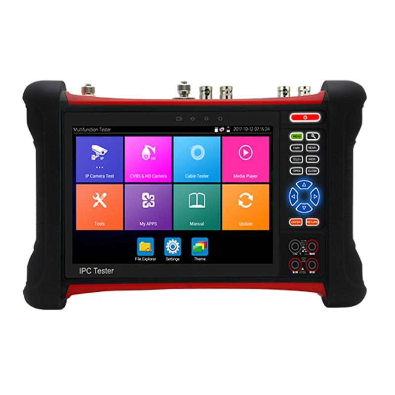 Testeur de vidéosurveillance 4 K H265 HD avec écran tactile rétine de 7 pouces tout-en-un Support multifonction Hotspot WIFI DC12V2A, sortie PoE DC48V