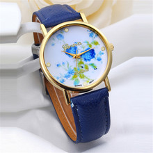 2016New Fashion Floral Flower GENEVA Watch GARDEN BEAUTY BRACELET WATCH Women Dress Watches Quartz Wristwatch Watches Wholesale
