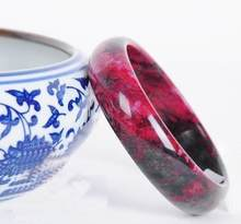 Beautiful Peach Blossom Hetian Jade Bangle Natural Hand-Carved Bracelet 56--62mm(China)