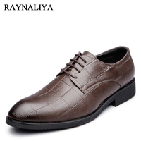 Lace Up Men Business Dress Split Leather Shoes Spring Autumn Male Single Shoes Height Increased Oxfords