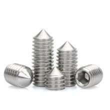 Hex Set Grub Screw Metric Headless Threaded Inner Hexagon Socket Cap Tapered Pointed Bolts 304 Stainless Steel M6 M8 M10 M12 цена